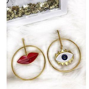 Lashes & Lips Earrings